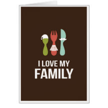 Cutlery - I Love M y Family Cards