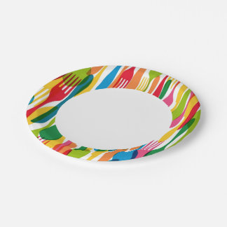 Cutlery Pattern Illustration Paper Plate