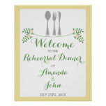 Cutlery Rehearsal Dinner Welcome Poster