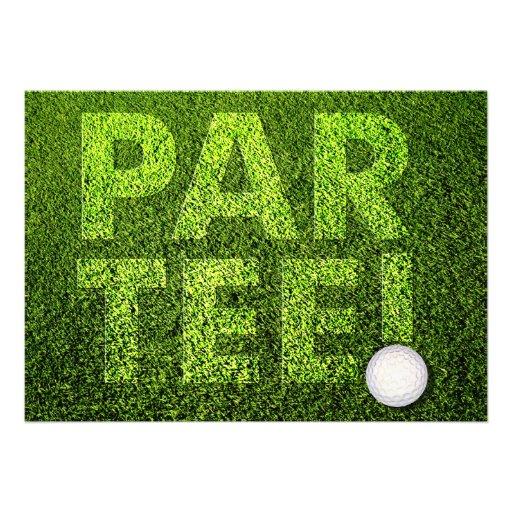 Cutomizable Golf Party Celebration Invitation