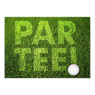 "Cutomizable Golf Party Celebration Invitation 5"" X 7"" Invitation Card"