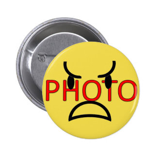 Cutomizable photo on 6 cm round badge