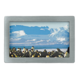 Cutout Artistic Vintage Penguins Belt Buckle