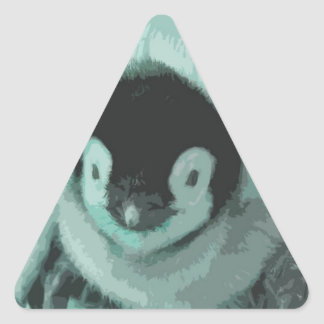 Cutout Baby Vintage Look Penguin Triangle Sticker