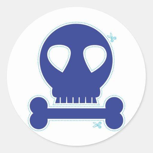 CUTOUT! blue skull boy Sticker