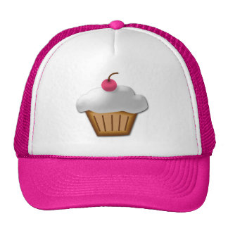Cutout Cupcake with Pink Cherry on Top Cap