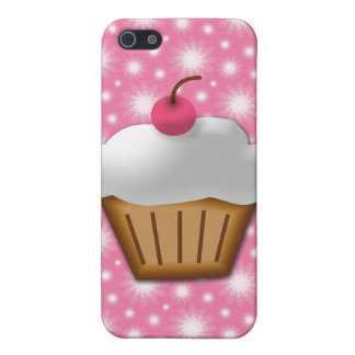 Cutout Cupcake with Pink Cherry on Top Case For The iPhone 5