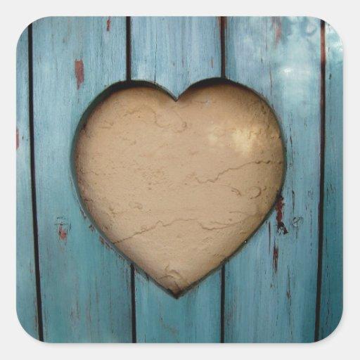 Cutout heart shape artistic sticker