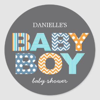 Cutout Letters Baby Shower Favor Sticker
