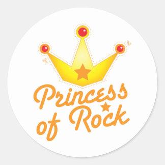 CUTOUT! Princess of rock Rockabilly design Round Sticker