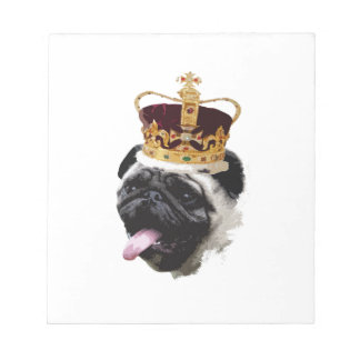 Cutout Pug in a Crown Notepad