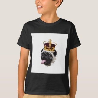 Cutout Pug in a Crown T-Shirt