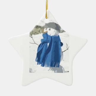 Cutout vintage effect snowman christmas ornament