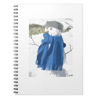 Cutout vintage effect snowman notebook