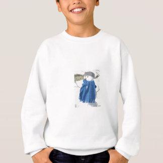 Cutout vintage effect snowman sweatshirt