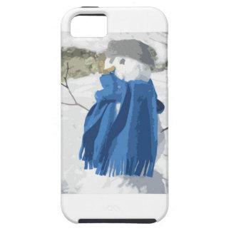 Cutout vintage effect snowman tough iPhone 5 case