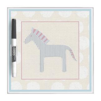Cutout Zebra on Cream Background Dry Erase Board