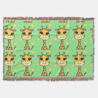 Cutsie Baby Giraffe Throw Blanket