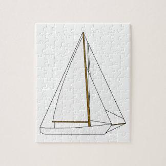 Cutter Sailboat Illustration Jigsaw Puzzle
