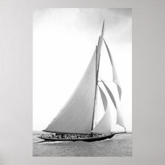 Cutter Yacht Britannia Posters