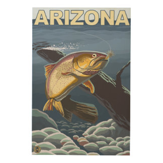 Cutthroat Trout FishingArizona Wood Print