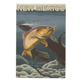 Cutthroat Trout FishingNew Mexico Wood Wall Art