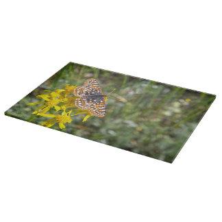 Cutting Board Glass Butterfly Aspen