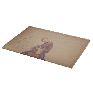 Cutting Board Glass Western Cowgirl