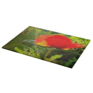 Cutting Board Glass Western Poppies