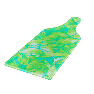 Cutting Board Grunge Art Floral Abstract