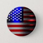 Cutting Edge Laser Cut American Flag 1 6 Cm Round Badge