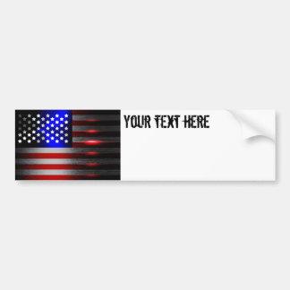 Cutting Edge Laser Cut American Flag 1 Bumper Sticker