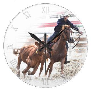 Cutting horse and calf clocks