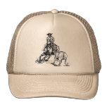 Cutting Horse Western Sketch Design Hat