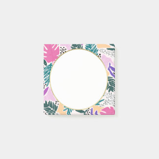 Cutting Shapes Tropical Pattern Post-it Notes