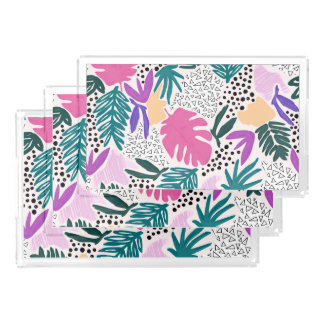 Cutting Shapes Tropical Pattern Vanity Tray