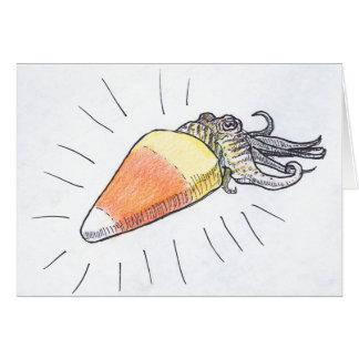 """""""Cuttlecorn"""" Halloween Cuttlefish Card"""