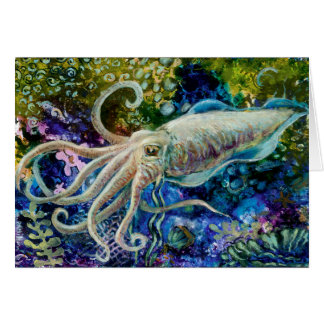 """Cuttlefish Drift"" greeting card"