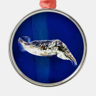 Cuttlefish Silver-Colored Round Decoration
