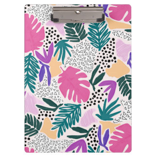 Cuttting Shapes Tropical Pattern Clipboard