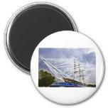 Cutty Sark Greenwich Fractals 6 Cm Round Magnet