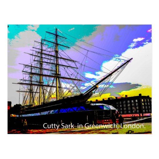 Cutty Sark in Greenwich,London. Postcard