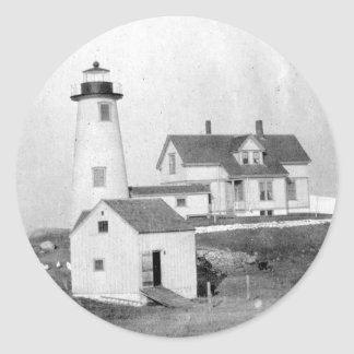 Cuttyhunk Lighthouse Round Sticker