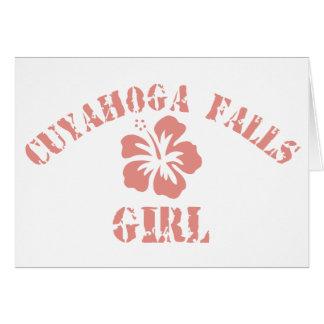 Cuyahoga Falls Pink Girl Card