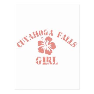 Cuyahoga Falls Pink Girl Post Cards