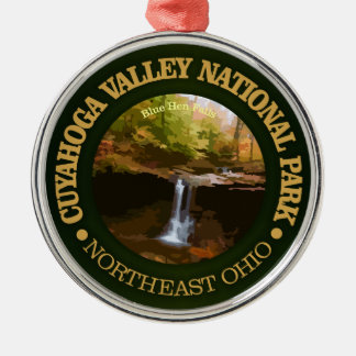 Cuyahoga Valley National Park Silver-Colored Round Decoration