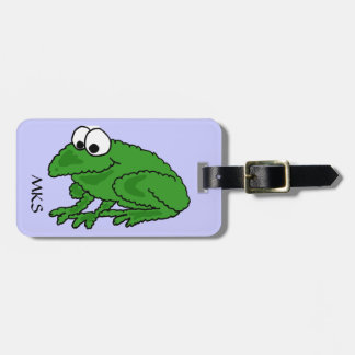 CV- Funny Frog Luggage Tag