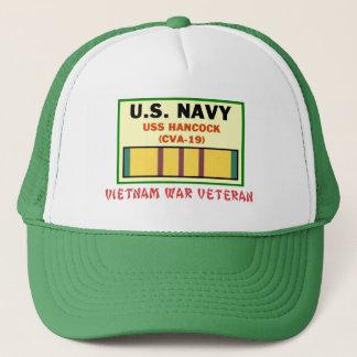 CVA-19 HANCOCK VIETNAM WAR VET TRUCKER HAT