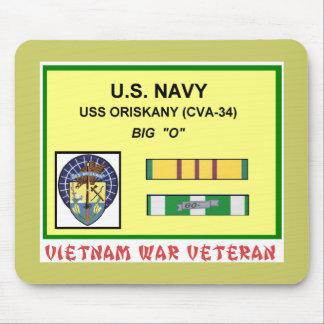 CVA-34 ORISKANY VIETNAM WAR VET MOUSE PAD