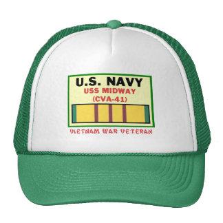 CVA-41 MIDWAY VIETNAM WAR VET CAP